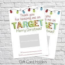 printable christmas targets printable christmas gift card holder thank you gift card holders
