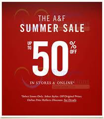 abercrombie fitch summer sale 11 jun 2015