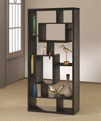 coaster bookcases asymmetrical cube black book case with shelves