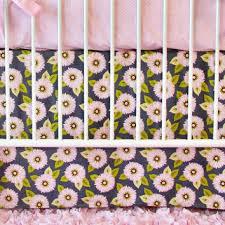 Dahlia Nursery Bedding Set Bumperless Crib Bedding