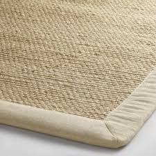 Round Straw Rug by Linen Bordered Chunky Weave Jute Area Rug World Market