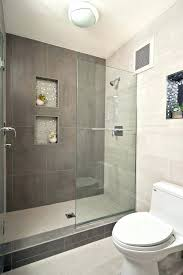 small bathroom shower tile ideas large tiles in small bathroom this compact contemporary bathroom