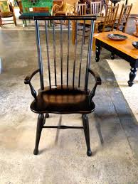 Antique Captains Chair French Country Style Black Captain U0027s Chair Hoskins Creek Wood