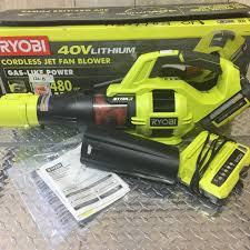 ryobi fan and battery ryobi ry40403 40v li ion 110 mph jet fan blower ebay