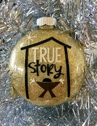 ornament manger ornament true story ornament