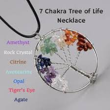 the 7 chakra tree of healing necklace benefits and meaning