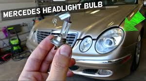 mercedes light replacement mercedes w211 low beam headlight bulb replacement removal