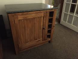 besp oak solid oak freestanding kitchen unit with solid granite