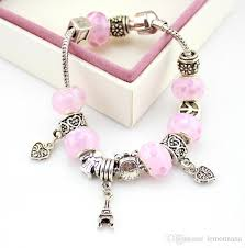 european bracelet charms images Pink color jewelry handmade european beads bracelets bangles jpg