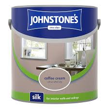 johnstone u0027s paint vinyl silk emulsion coffee cream 2 5l painting
