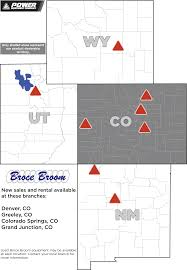 Greeley Colorado Map by Construction Equipment Power Equipment Company