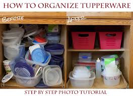 how to organize your tupperware cupboard for a couple bucks 5