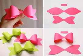 Paper Craft Steps - simple step by step tutorial on how to make a bow tie description