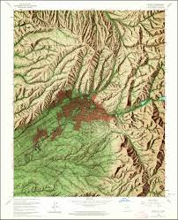 Topographical Map Of Colorado by Browse Image Of The 1961 Santa Fe New Mexico 7 5 Minute Series