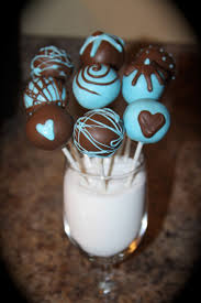 blue cake ideas chocolate 21113 blue brown baby boy cake pops