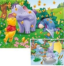 winnie pooh heffalump 2 puzzles box 20 pieces amazon