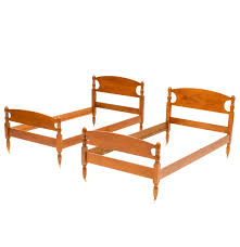 Twin Bed Pair Of Vintage Twin Bed Frames Ebth