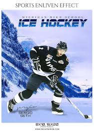 hockey templates for photoshop sergio seth ice hockey sports enliven effects photoshop template