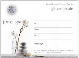 best online gift cards spa gift certificates online jinsei spa voted bend or s best