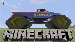 monster truck grave digger video superman monster truck on minecraft xbox 360 youtube