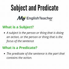 subject and predicate simple subject and predicate examples
