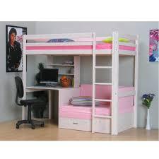 hochbett mit schreibtisch und sofa thuka hochbett 90x200 bett weiss inkl matratze rosa und