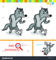 find ten differences between two pictures stock illustration