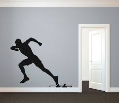 track runner sprinter silhouette sports wall decal custom zoom
