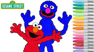 sesame street coloring book elmo grover colouring pages episode