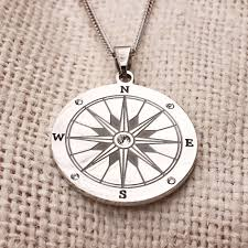 pendant engraving engravable compass necklace s addiction