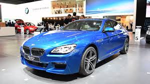 bmw m6 blue brussels belgium january 13 bmw m6 6 series gran coupe in