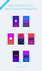 free iphone 6 u0026 7 app ui design screen mockup psd