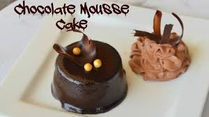 mini chocolate mousse cake recipe youtube