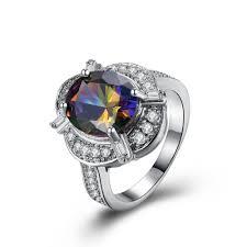 aliexpress com buy precious gem rings for women white gold