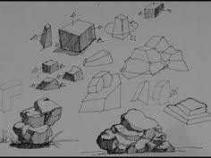 ever had trouble drawing rocks and boulders with a few focused