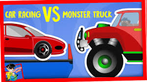 monster truck shows videos car racings vs monster truck gaming videos for kids animated