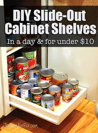 organize your pantry with diy slide out cabinet shelves the kim