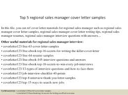 Sales Manager Cover Letter by Top 5 Regional Sales Manager Cover Letter Sles 1 638 Jpg Cb 1434771406