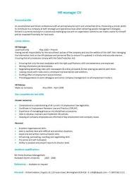 easy basic resume exle a hr manager cv template with a simple but eye catching design