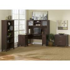 60 Inch L Shaped Desk Somerset 60 Inch L Shaped Desk Mocha Cherry Bush Furniture
