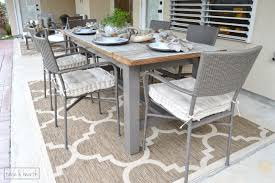 Rustic Patio Tables Rustic Patio Makeover One Room Challenge Reveal Table And