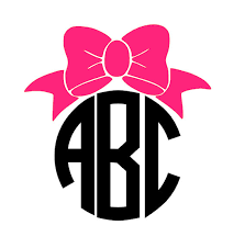 bow monogram bow monogram car decal car sticker car decal monograms and cars