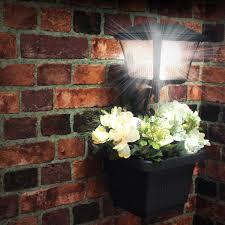 Madison Solar Lamp Post Planter by Amazon Com Gama Sonic Plantern Solar Outdoor Led Path And Garden