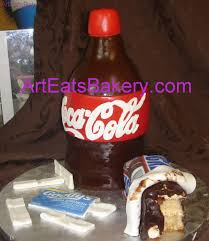 custom designed 3d fondant coke bottle snickers and goody u0027s
