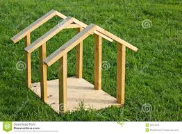 Build A Small House by Dog House Wood Frame Royalty Free Stock Images Image 25041209 Wood
