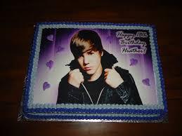 justin bieber sheet cake