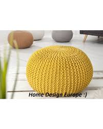 christmas savings on bean bag yellow pouf footrest ball knit