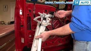 how to install replace power window regulator 99 07 ford f250 f350