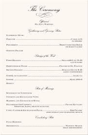 Sample Of A Wedding Program Wedding Programs Wording Finding Wedding Ideas