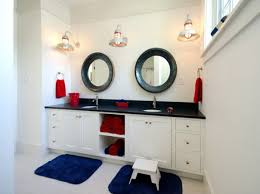 seaside themed bathroom mirrors best bahtroom white wall paint for amusing bathroom with twin nautical